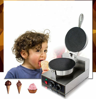 Stainless Egg Roll Waffle Baker Machine-Commercial Nonstick Ice Cream Cone Maker