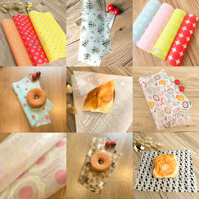 50/100X Waxed Paper - Sandwich Bread Soap Candy Wrapping Oil Greaseproof 22x25cm