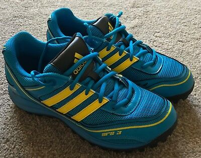 ab2ea5d99516 ADIDAS SRS 3 Ladies Hockey Shoes Blue and Yellow - Size 5 - £5.00 ...