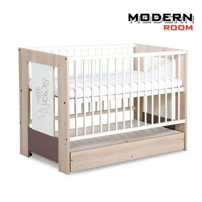 Big Sale!!! Baby Safari Wooden Cot With Drawer With Foam Mattress