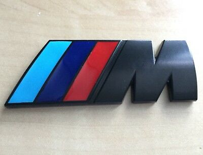 Bmw M Power Sport Boot Black Metal Badge Emblem Series 1 2 3 4 5 6 7 X3 X5 X6