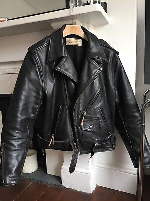 top-rated genuine best loved newest AERO LEATHER MOTORCYCLE Jacket, Indian Ranger, Harley, RRP £800 42 Med/large