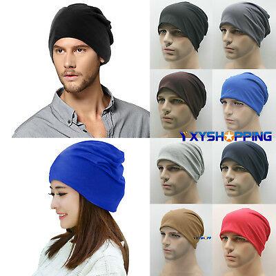 Mens Womens Plain Beanie Winter Warm Oversized Ski Slouchy Baggy Hat Hip-Hop Cap
