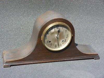 Antique Napoleon clock ,circa 1870,  early American mantle clock ,New haven .