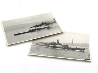 Two Vintage Maritime Shipping Company Paddle Steam Ship Post Cards