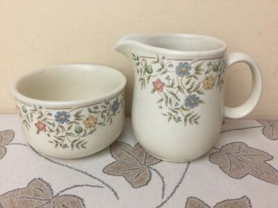 BHS Country Garland Milk Jug & Sugar Bowl Lovely Condition