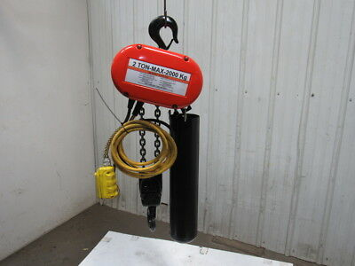 CM Lodestar RR 2 Ton 4000LB 2Hp Electric Chain Hoist 230/460V 3Ph 17' Lift 16FPM