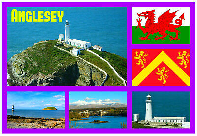 Anglesey, Wales - Souvenir Novelty Fridge Magnet, Sights / Flags / New / Gifts