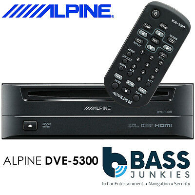 Alpine DVE-5300 - Single 1 Din Boot Mount Car CD DVD MP3 WMA DivX Disc Player