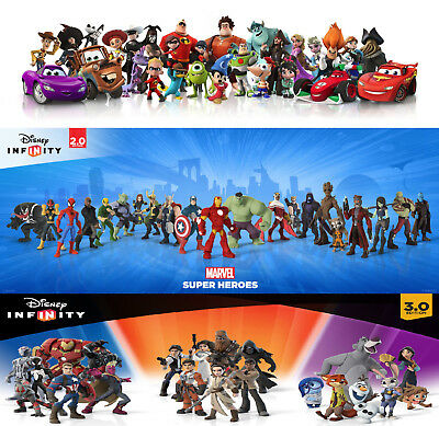 Disney Infinity 1.0/2.0/3.0 Figures & Power Discs - Buy 2 and Get The 3rd Free
