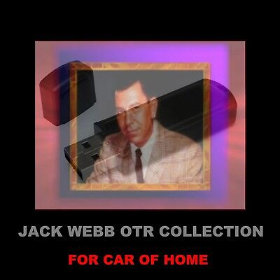 Jack Webb Collection 486 Dragnet & 100 More Old Time Radio Shows For Car Or Home