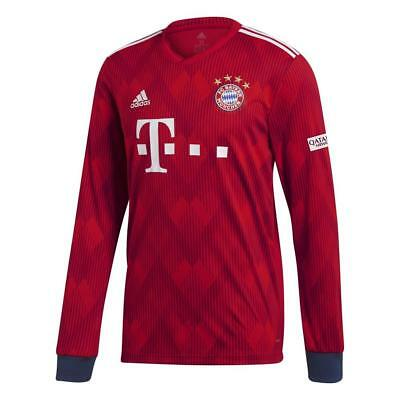 Adidas Bayern Munich Home Mens Long Sleeve Jersey 2018/2019