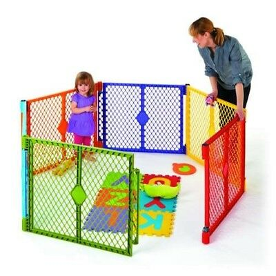 North States Baby Pet Gate & Portable Play Yard 6 Panel Color TODDLER