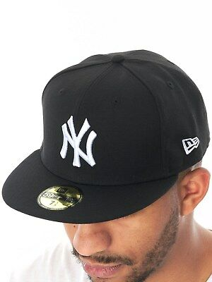 New Era Black-White League Basic 59Fifty New York Yankees Fitted Cap