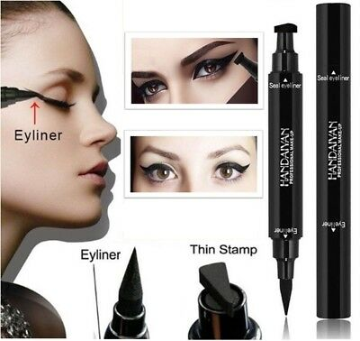 Winged Eyeliner Stamp Waterproof Makeup Cosmetic Eye Liner Pencil Black Liquid!