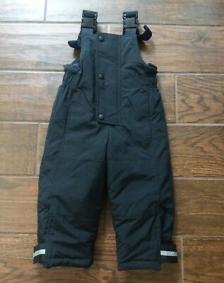 Hanna Andersson Snow bib size 90 Black Outdoor outfit VGUC