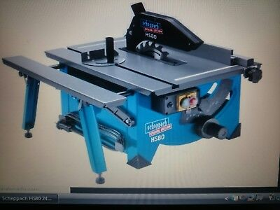 Scheppach HS80 240V Table Top Saw Bench Sliding Side Extension