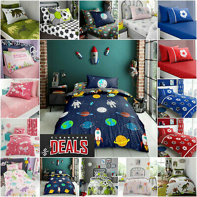KIDS DUVET COVER SET With Pillowcases Bed Sheets Quilt Easy Care Bedding