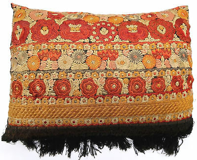 Pillow cushion tapestry antique European Europe Hungarian Silk 1900