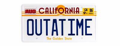 Back To The Future OUTATIME  License/number Plate Marty McFly DMC-12 DeLorean