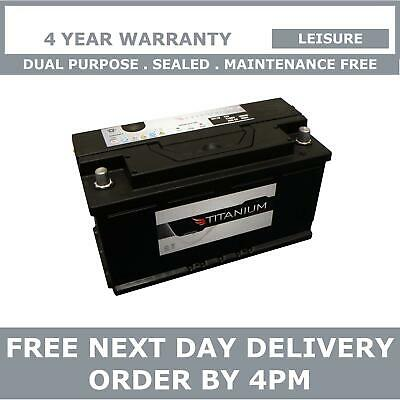 Titanium 110Ah Dual Purpose Leisure Battery - Boat, Caravan, Motorhome, Camper