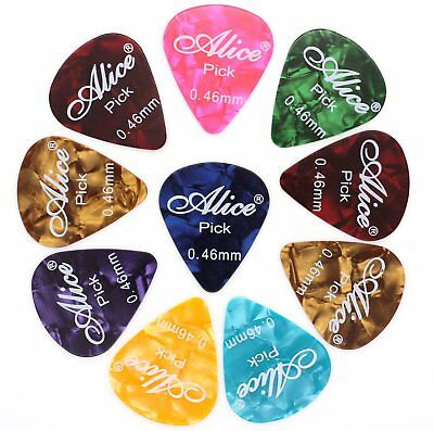 10 Colourful Celluloid Extra Light Thin Guitar Picks .46mm Acoustic Electric Uke