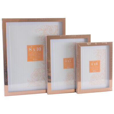 ROSE GOLD COLOURED Metallic Picture Frames, Clean Mounted Phot ...