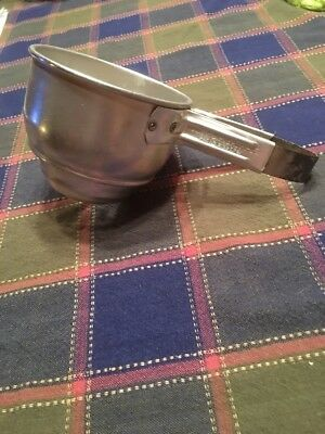 Flour Sifter Foley Vintage Squeeze Handle Aluminum Tapered Bottom 1 Cup 1940s