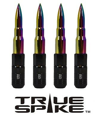 20 True Spike 121Mm 12X1.5 Neo Chrome Extended Tuner Spiked Bullet Lug Nuts B