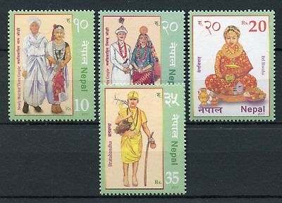 Nepal 2017 MNH Traditional Dress Costumes 4v Set Cultures Stamps