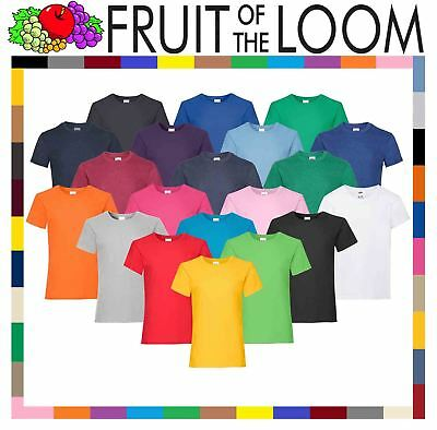 Fruit of the Loom Girl's Valueweight T-Shirt Top Kids Tee Shirt Plain Cotton