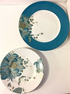 222 Fifth Eliza Teal \u2013 Set of 2 Dinner and 2 Salad Plates & 222 FIFTH \