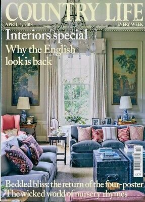 COUNTRY LIFE MAGAZINE 4th APRIL 2018 ~ NEW ~