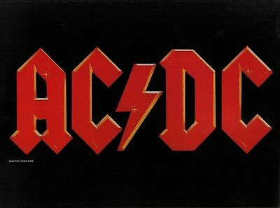 Ac/dc 1984 Flick Of The Switch Tour Poster Program Book / Brian Johnson / Nmt