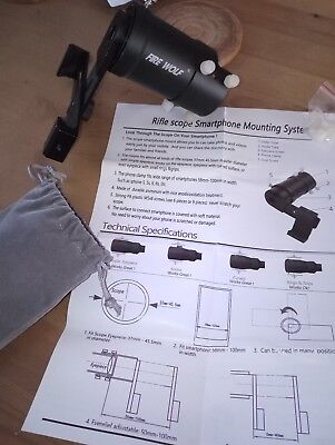 Rifle scope Smartphone mounting system