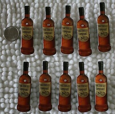 Lot of 10 Non Working Light Up Southern Comfort Bottle Plastic Pin Pinback