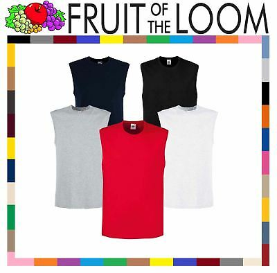 d8f43990bca360 Fruit Of The Loom MEN S TANK TOP SMART FIT COTTON SPORTS GYM VEST SUMMER T-