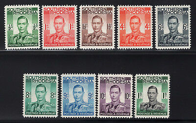 Southern Rhodesia. SG#40-48. Mint, Lightly Hinged, Very Fine.
