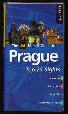 Prague AA tourist map and Guide...First class quality guide and map