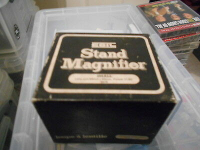 Vintage Coil Small Stand Magnifier 5474 In Box/Lens Size 64mm x 52mm Power 11.0D
