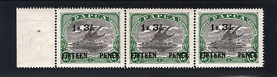 Papua. SC#93 SG#128. Mint, Never Hinged, Extra Fine. Strip of 3