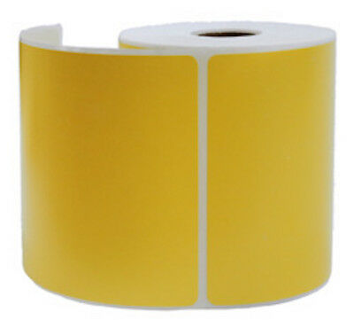 "2000 Yellow Thermal Shipping Labels 250/Roll for Zebra Printer 4"" x 6"""