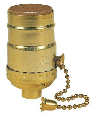 """Westinghouse 7041100 2-1/4"""" Brass Pull Chain Socket"""