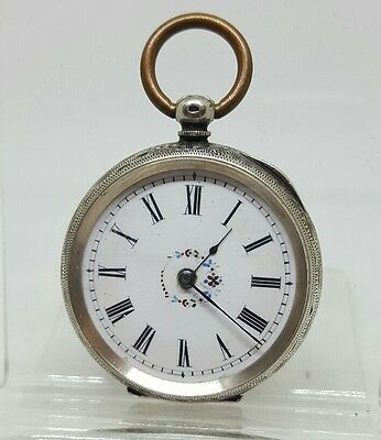 Nice antique solid silver ladies pocket watch c1900