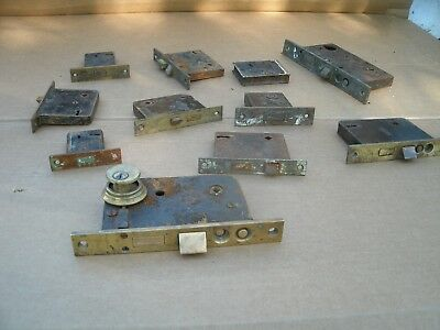 Vintage Antique Door Lock Lot Door Hardware Parts - LOT OF Eight (8) Antique Vintage Mortise Lock Skeleton Keys - $9.95