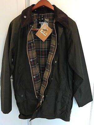 Barbour Classic Beaufort waxed jacket- Olive- Size 40