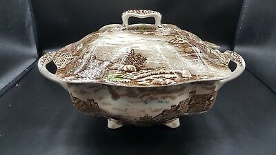 Johnson Brothers Olde English Countryside SOUP TUREEN Multi Color Excellent cond