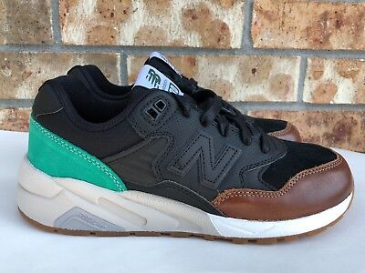 sports shoes 32e07 a41df MEN'S NEW BALANCE 580 REVlite Running Shoes Black Green Brown Size 7.5  MRT580NK