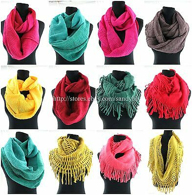 US SELLER-12pcs wholesale scarf women winter fall infinity fashion scarf