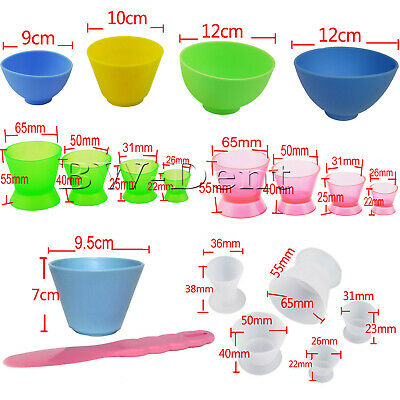 Dental Non-Stick Flexible Silicone Dappen Dish Mixing Bowl Cup Plastic Spatula